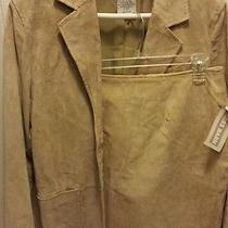 Bagatelle Suede Jacket and Skirt suit.beige Size 10 Nwt Dress Barn. Photo