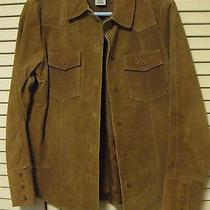 Bagatelle Suede Leather  Brown Jacket Women's Barn  Coat  Sz 8 Photo
