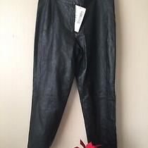 Bagatelle Vintage Black Leather Pants  Size 12p New Photo