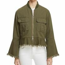Bagatelle Women's Jacket Green Small S Distressed Frayed Bell Sleeve 89 165 Photo