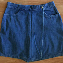 Bagatelle Womens Blue Jeans Casual Skorts Skirt Shorts Size 12 4801 Photo