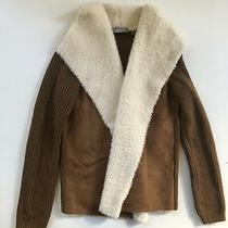 Bagatelle Womens Brown Faux Fur Suede Leather Jacket Size M Photo