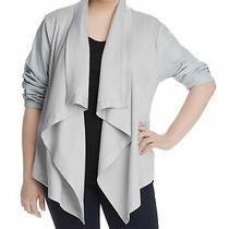 Bagatelle Womens Jacket Cloud Gray Size 1x Plus Fly Away Zipper Pocket 138 381 Photo
