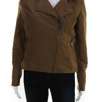 Bagatelle Womens Long Sleeve Asymmetrical Zip Motorcycle Jacket Beige Size Xs Photo