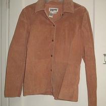 Bagatelle Womens Size 4 Mauve Suede Leather Shirt Jacket Collared Snap Front Euc Photo