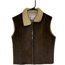 Bagatelle Womens Vest Brown Snake Print Fleece Lined Zip Front Sleeveless Xl Photo