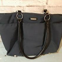 Baggallini a La Carte Travel Tote Blue Nylon Shoulder Bag Large Purse Hobo  Photo