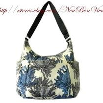 Baggallini Hobo Tote  Blue Floral Bnwt Photo