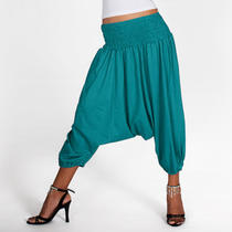 Baggy Genie Aladdin Hippie Yoga Harem Pants - Blue 2xs/xs/s/m/l 0-14 Photo