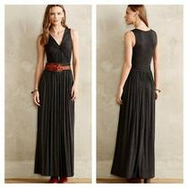 Bailey 44 for Anthropologie Knotted Knit Twist Bust Gray Maxi Dress Size S Photo