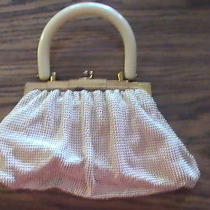 Bakelite Whiting & Davis Vintage - 1920s Ivory Enamel Metal-Mesh Purse Handbag Photo