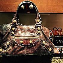 Balencia Brown Moto Bag Photo