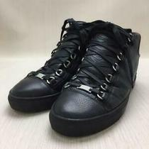 Balenciaga  40 Blk Leather Size 40 Black High Cut Sneaker 171 From Japan Photo