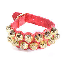 Balenciaga Agneau Giant Bracelet Rouge Coral Red Buckled Cuff Ghw Photo