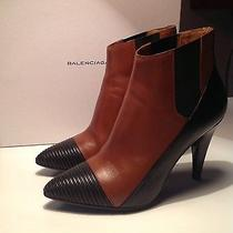 Balenciaga Ankle Boot Black Cognac Photo