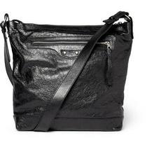 Balenciaga Arena Leather Classic Day Messenger Bag in Black Photo