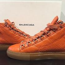 Balenciaga Arena Mens Sneaker Sz 11us (43 Eu) Electrique Orange / Gum Sole Photo