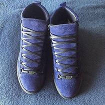 Balenciaga Arena Suede Blue Photo