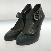 Balenciaga Bell Ted Heel 24cm Leather Wnp1378 Size 24cm Navy Heels From Japan Photo