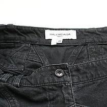 Balenciaga Black Cotton 38 Uk 10 Denim Mini Skirt  Photo