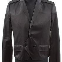 Balenciaga Black Cropped Cotton Jacket Photo