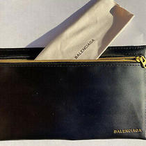 Balenciaga Black Leather Sunglasses Case Pouch With Cleaning Cloth Photo