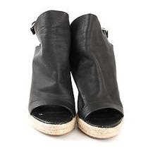 Balenciaga Black Leather Wedges Photo