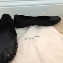 Balenciaga Black Python Flats Photo