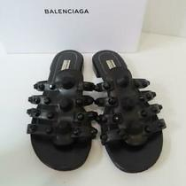 Balenciaga Black Studded Flats/sandals/shoes Eur 39 Ret. 635 Photo