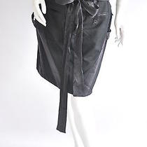 Balenciaga  Black Wool Straight Skirt With Tie Waist. Size 42  Photo