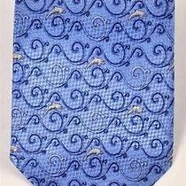 Balenciaga Blue Necktie With Jumping Dolphin Design Element 59
