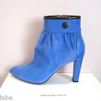Balenciaga Blue Suede Ankle Boots Booties Shoes 41 11 Photo