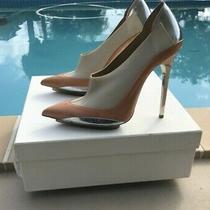 Balenciaga Blush Silver Orange Boots Booties Slip on Heels Sz 40 Made in Italy Photo
