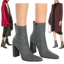 Balenciaga Boots Ankle  It 39 Us 9 Prince of Wales Checked Wool Booties 1290 Photo