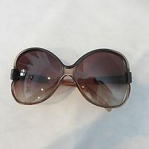 Balenciaga Brown Oval Sunglasses Photo
