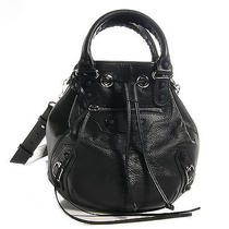 Balenciaga Chevre Mini Pompon Holiday Black New Photo
