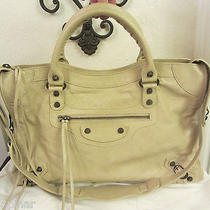 Balenciaga  City Arena Classic Bag Sac Purse  Beige -Amazing Color   Photo