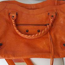 Balenciaga City Bag Orange Photo