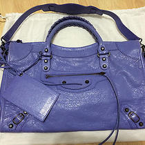 Balenciaga City Bag Purple Photo