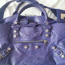 Balenciaga City Paris Bag Violet Photo