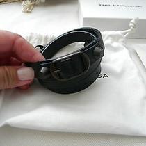 Balenciaga Classic Arena Triple Tour Wrap Leather Bracelet Nib Photo