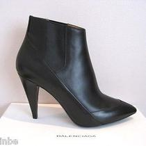 Balenciaga Classic Black Leather Ankle Stretchy Boots Booties 41 11 1085 Photo