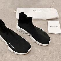 Balenciaga Classic Black Speed Sneaker Size 38 Photo