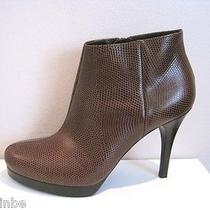 Balenciaga Classic Brown Platform Ankle Boots Booties 38 8 725 Photo