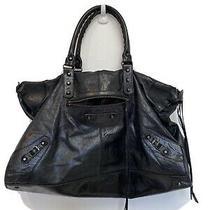 Balenciaga Classic City Giant Bag Black Lambskin  Photo