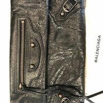 Balenciaga Classic Envelope Clutch With Strap Black Crossbody Bag Pre-Owned Photo