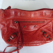 Balenciaga Clutch Red Lambskin  Photo