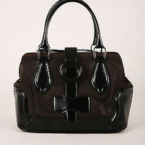 Balenciaga Dark Brown/black Leather Structured Hinged Frame Satchel Bag Photo