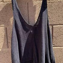 Balenciaga  Dark Navy 100% Hemp Knit Summer Cami Top Bikini Made in France S/m Photo