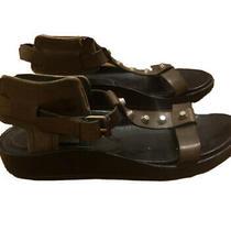 Balenciaga Designer Galidator Khaki Sandals Size 40.5 Italian  Photo